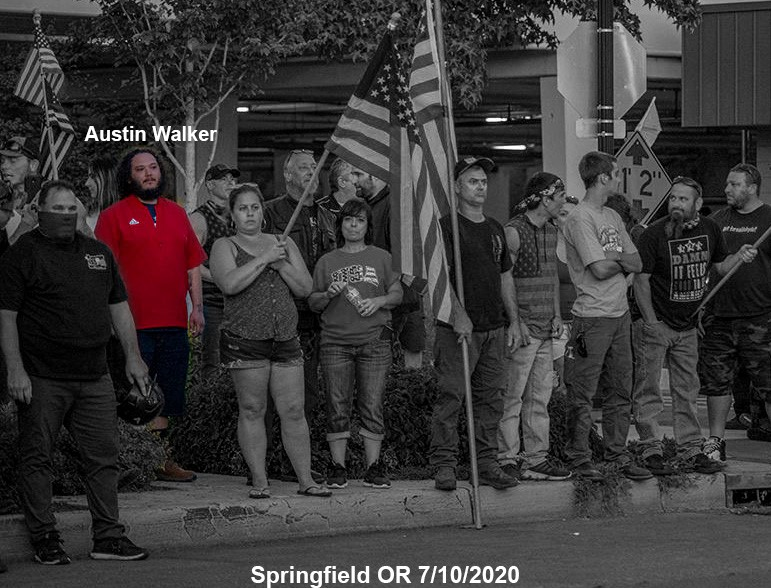 """Austin Walker at an """"All Lives matter"""" rally in Springfield, OR."""