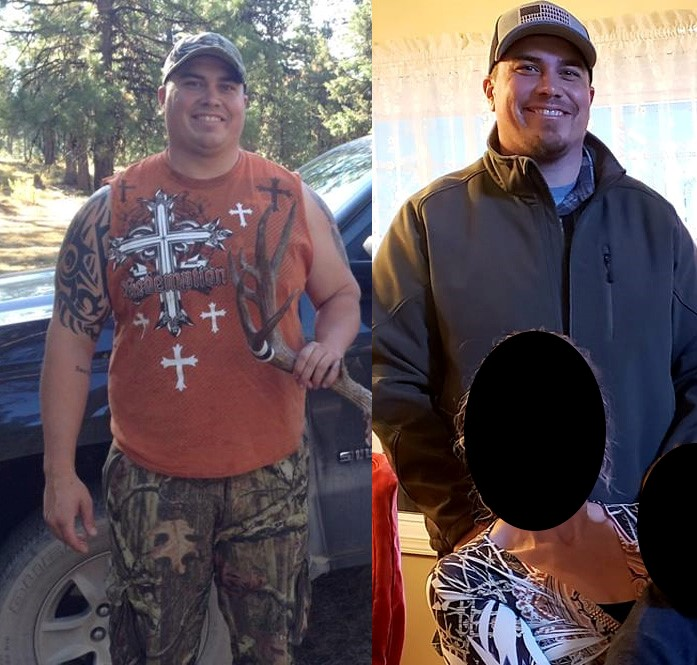 Two full body pictures of Travis Erickson